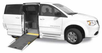 dodge SIDE ramp wheelchair minivan