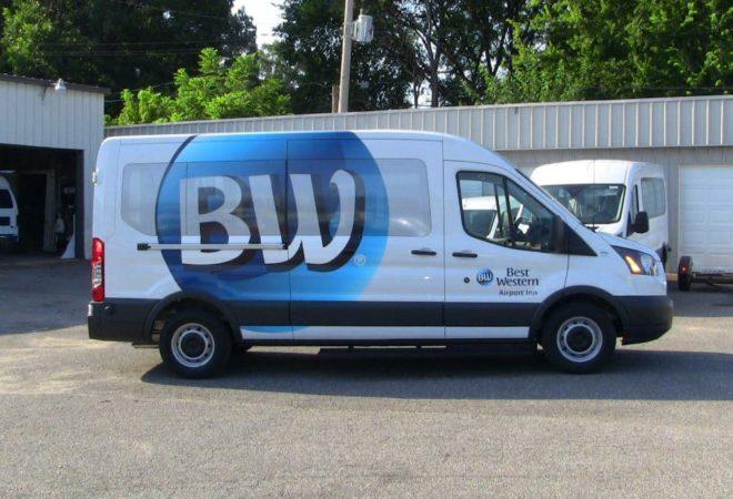 Best Western Hotels Shuttle Van Photos With Wraps Commtrans