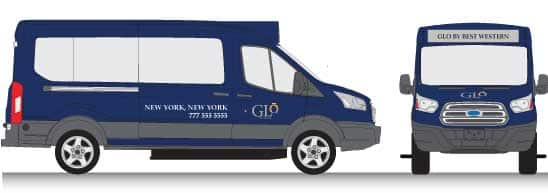 Glo by Best Western Van Wrap