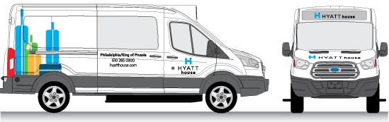 Hyatt House Van Wrap