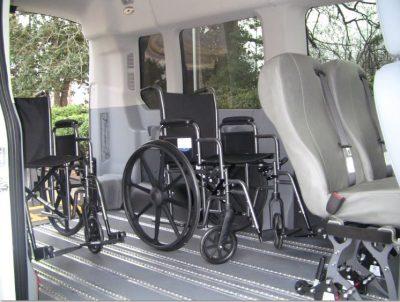 SmartFloor Wheelchair Van Interior With 2 Wheelchairs