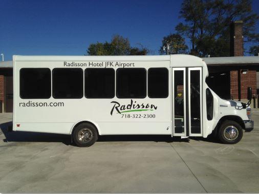 Radisson Hotel Senator II Bus 21 Passengers Interior Luggage